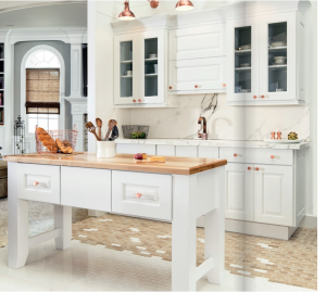 white-kitchen-cabinets-island-Ellijay-ga